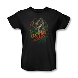 Jurassic Park - Womens Clever Girl T-Shirt In Black