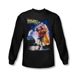 Back To The Future Ii - Mens Poster Long Sleeve Shirt In Black