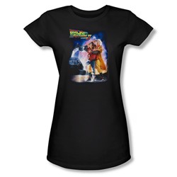 Back To The Future Ii - Womens Poster T-Shirt In Black