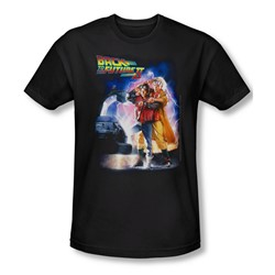 Back To The Future Ii - Mens Poster T-Shirt In Black