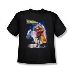 Back To The Future Ii - Big Boys Poster T-Shirt In Black