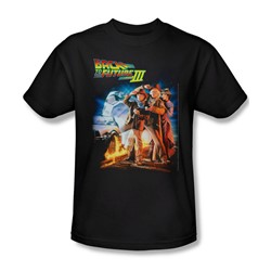Back To The Future Iii - Mens Poster T-Shirt In Black