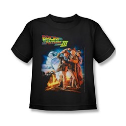 Back To The Future Iii - Little Boys Poster T-Shirt In Black