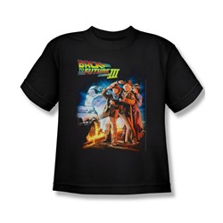 Back To The Future Iii - Big Boys Poster T-Shirt In Black