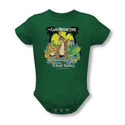 Land Before Time - Infant Great Valley Onesie In Kelly Green