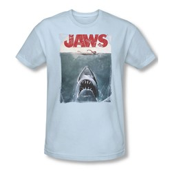 Jaws - Mens Title T-Shirt In Light Blue