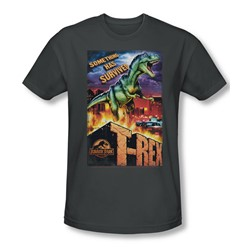 Jurassic Park - Mens Rex In The City T-Shirt In Charcoal