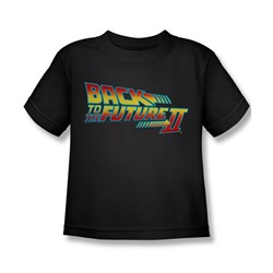 Back To The Future Ii - Little Boys Logo T-Shirt In Black