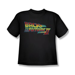 Back To The Future Ii - Big Boys Logo T-Shirt In Black