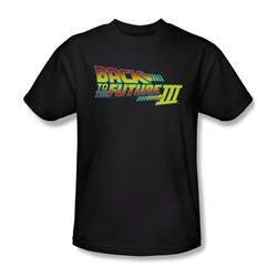 Back To The Future Iii - Mens Logo T-Shirt In Black