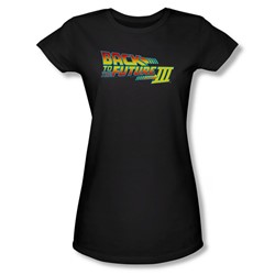 Back To The Future Iii - Womens Logo T-Shirt In Black