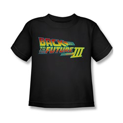Back To The Future Iii - Little Boys Logo T-Shirt In Black