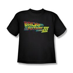 Back To The Future Iii - Big Boys Logo T-Shirt In Black