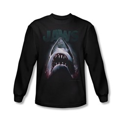 Jaws - Mens Terror In The Deep Long Sleeve Shirt In Black