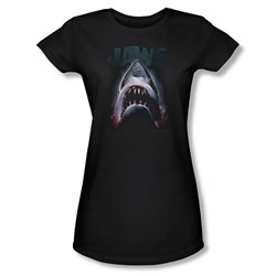 Jaws - Womens Terror In The Deep T-Shirt In Black