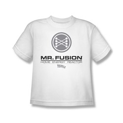 Back To The Future Ii - Big Boys Mr. Fusion Logo T-Shirt In White