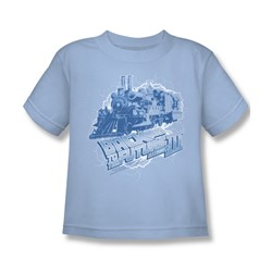 Back To The Future Iii - Little Boys Time Train T-Shirt In Light Blue