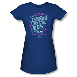 Back To The Future - Womens Under The Sea T-Shirt In Royal