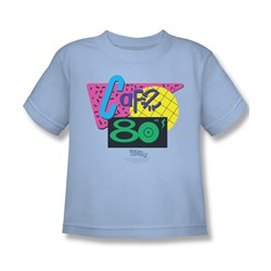 Back To The Future Ii - Little Boys Cafe 80'S T-Shirt In Light Blue