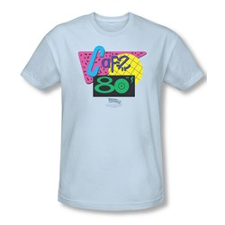 Back To The Future Ii - Mens Cafe 80'S T-Shirt In Light Blue