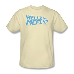 Back To The Future - Mens Hello Mcfly T-Shirt In Cream