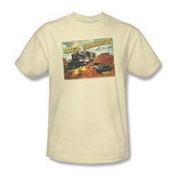 Back To The Future Iii - Mens Hill Valley Postcard T-Shirt In Cream
