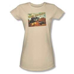 Back To The Future Iii - Womens Hill Valley Postcard T-Shirt In Cream