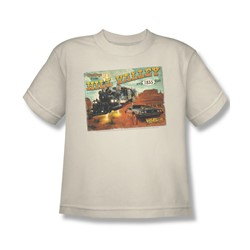 Back To The Future Iii - Big Boys Hill Valley Postcard T-Shirt In Cream