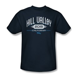 Back To The Future Ii - Mens Hill Valley 2015 T-Shirt In Navy