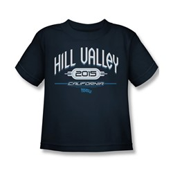 Back To The Future Ii - Little Boys Hill Valley 2015 T-Shirt In Navy