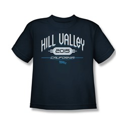 Back To The Future Ii - Big Boys Hill Valley 2015 T-Shirt In Navy