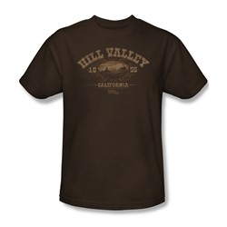 Back To The Future Iii - Mens Hill Valley 1855 T-Shirt In Coffee