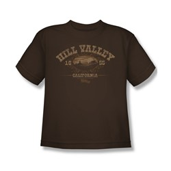 Back To The Future Iii - Big Boys Hill Valley 1855 T-Shirt In Coffee
