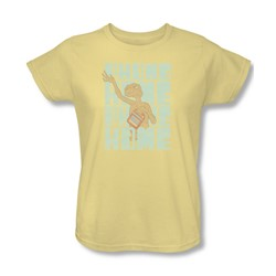 Et - Womens Dropped Calls T-Shirt In Banana