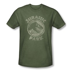 Jurassic Park - Mens Jp Stamp T-Shirt In Military Green