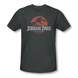 Jurassic Park - Mens Faded Logo T-Shirt In Charcoal