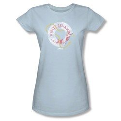 Jaws - Womens Life Preserver T-Shirt In Light Blue