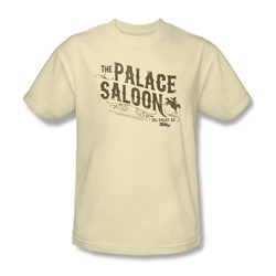 Back To The Future Iii - Mens Palace Saloon T-Shirt In Cream