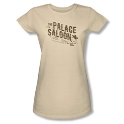 Back To The Future Iii - Womens Palace Saloon T-Shirt In Cream