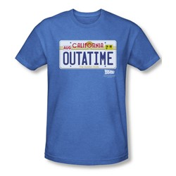 Back To The Future - Mens Outatime Plate T-Shirt In Royal