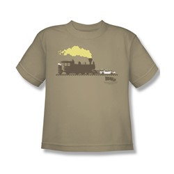 Back To The Future Iii - Big Boys Pushing The Delorean T-Shirt In Sand