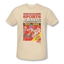 Back To The Future Ii - Mens Sports Almanac T-Shirt In Cream