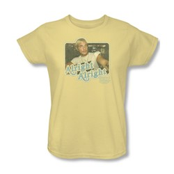Dazed And Confused - Womens Alright Alright T-Shirt In Banana
