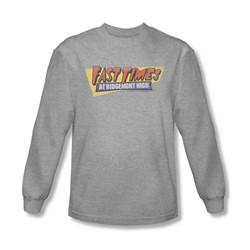 Fast Times Ridgemont High - Mens Distressed Logo Long Sleeve Shirt In Heather