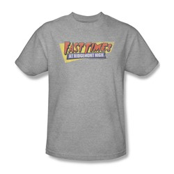 Fast Times Ridgemont High - Mens Distressed Logo T-Shirt In Heather