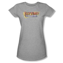 Fast Times Ridgemont High - Womens Distressed Logo T-Shirt In Heather
