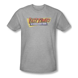 Fast Times Ridgemont High - Mens Distressed Logo T-Shirt In Heather