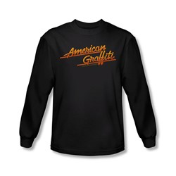American Grafitti - Mens Neon Logo Long Sleeve Shirt In Black