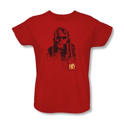 Hellboy Ii - Womens Splatter Gun T-Shirt In Red