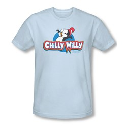 Chilly Willy - Mens Logo T-Shirt In Light Blue